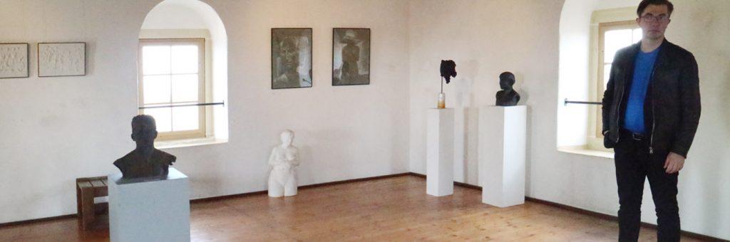 """Rolf Büttner in der Ausstellung """"Der Radioamateur"""""""